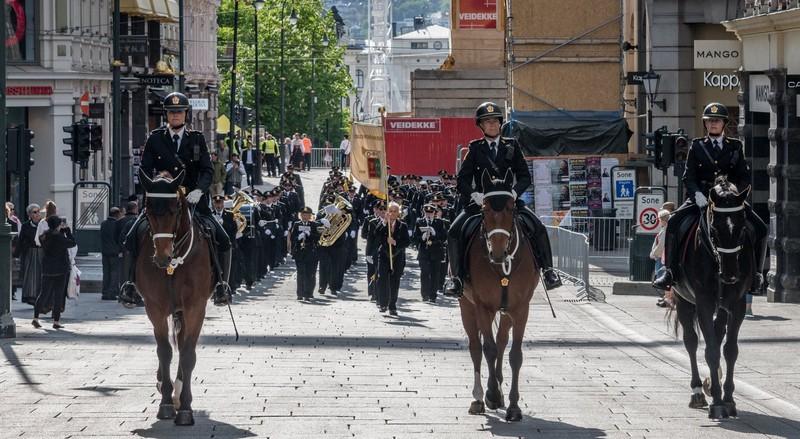 Oslo Politiorkester på Nasjonaldagen 17.05.2018 (Foto: Trond Brenne)