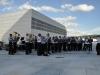 Oslo- og Hamburg politiorkester spiller på Operataket 19.08.12 (Foto: Thea Bergan)