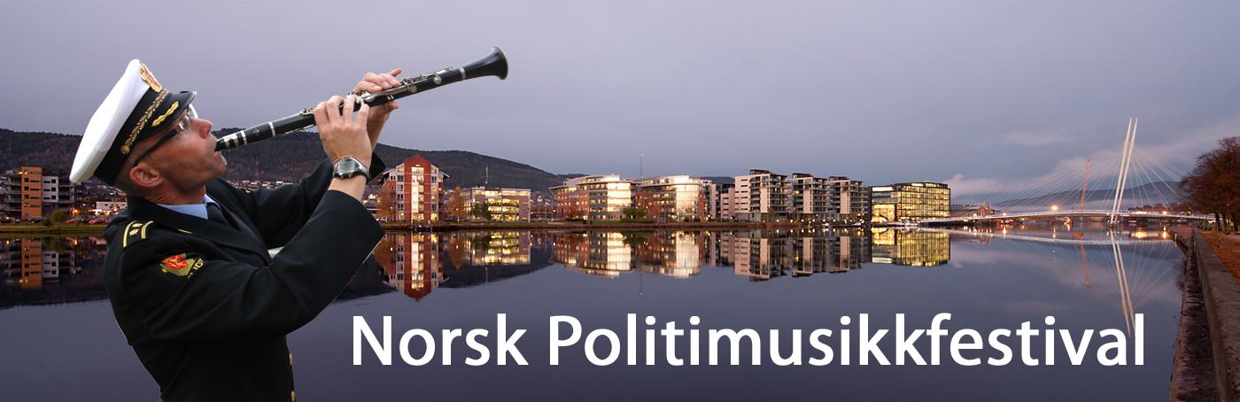 Banner til Politimusikkfestivalen i Drammen 2015
